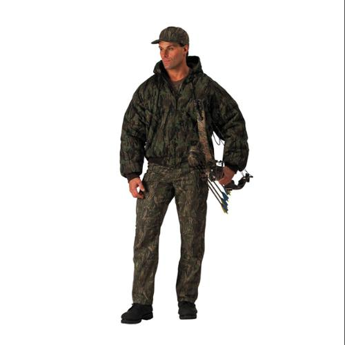 Deluxe Hooded Heavyweight Insulated Hunting Jacket in Smokey Branch Camo - 2XL