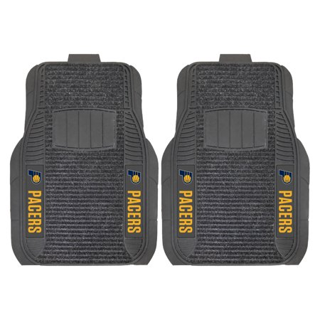 Indiana Pacers Nba Car - Indiana Pacers 2-Piece Deluxe Car Mat Set - No Size