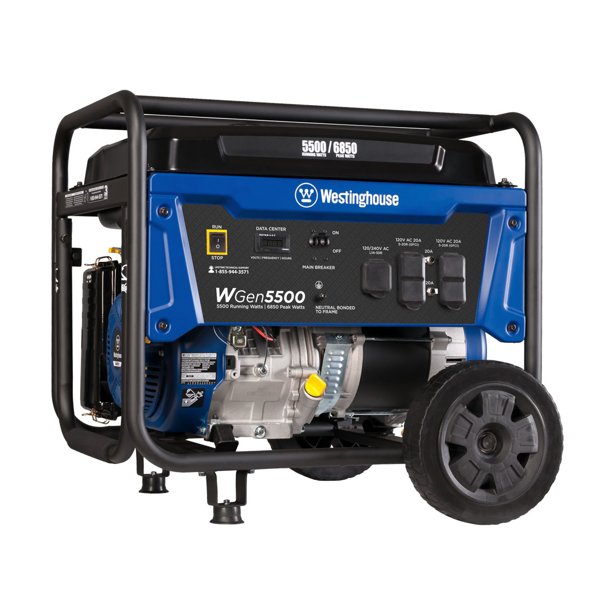 Westinghouse WGen5500 Gas Powered Portable Generator - 5500 Running Watts and 6850 Peak Watts - CARB Compliant