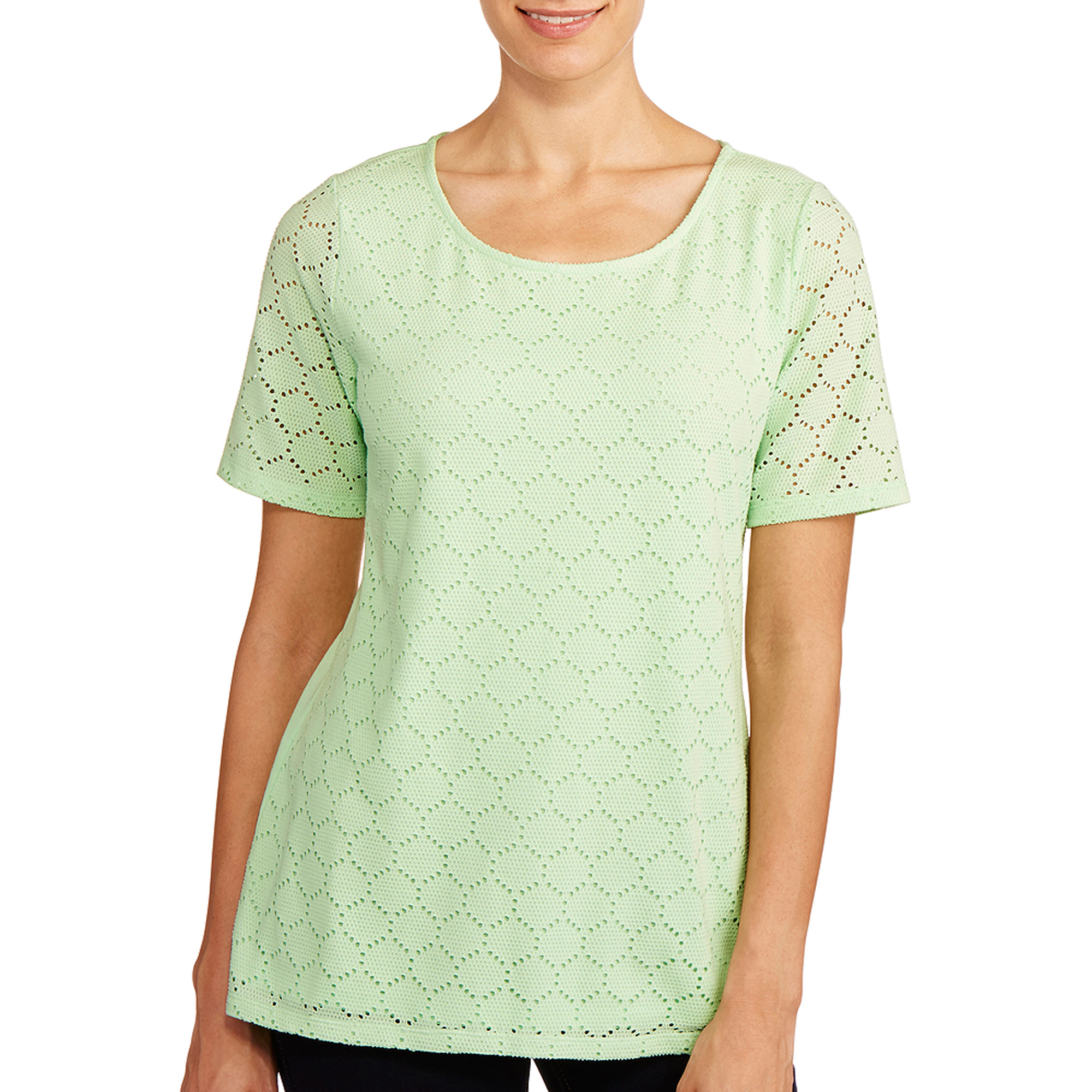 White Stag Women's Drop Needle Scoop Neck T-Shirt