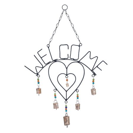 Woodland Imports Twin Metal Welcome Wind Chime