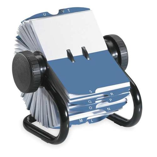 "6-13/16"" Rotary Card File, Black ,Rolodex, 67236"