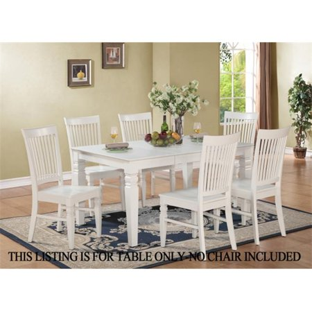 East West Furniture WET WHI T Weston Dining Table With 18 In Butterfly Leaf