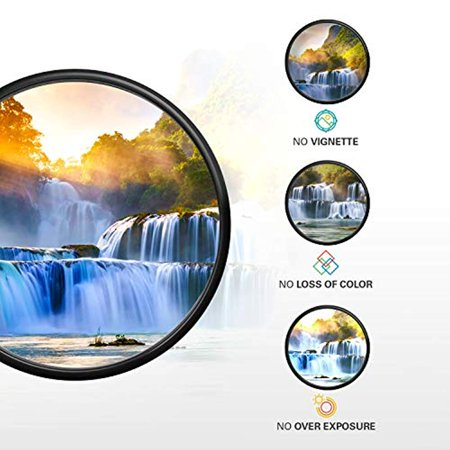 Polaroid Optics- 40.5mm Neutral Density Filter kit w/ [ND3, ND6 & ND9] Filters for Light, Exposure & Shutter Control Includes Nylon carry Case- Compatible w/ALL Popular Camera Lens Models - image 4 de 7