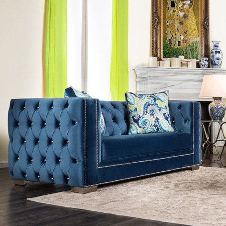 Easy of use Hokku Designs Sahteene Tuxedo Loveseat Recommended Item