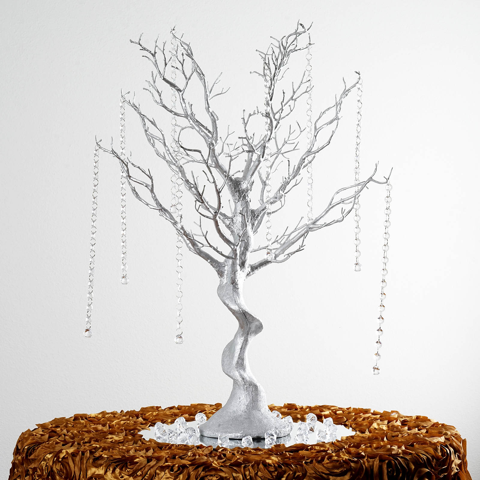 "BalsaCircle 30"" Glittered Manzanita Tree with Garlands - Wedding Party DIY Centerpieces Decorations Supplies"