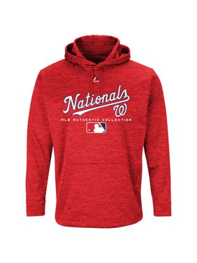 6c5f479b379d Product Image Washington Nationals Majestic Authentic Collection Team Drive  Ultra-Streak Fleece Pullover Hoodie - Red