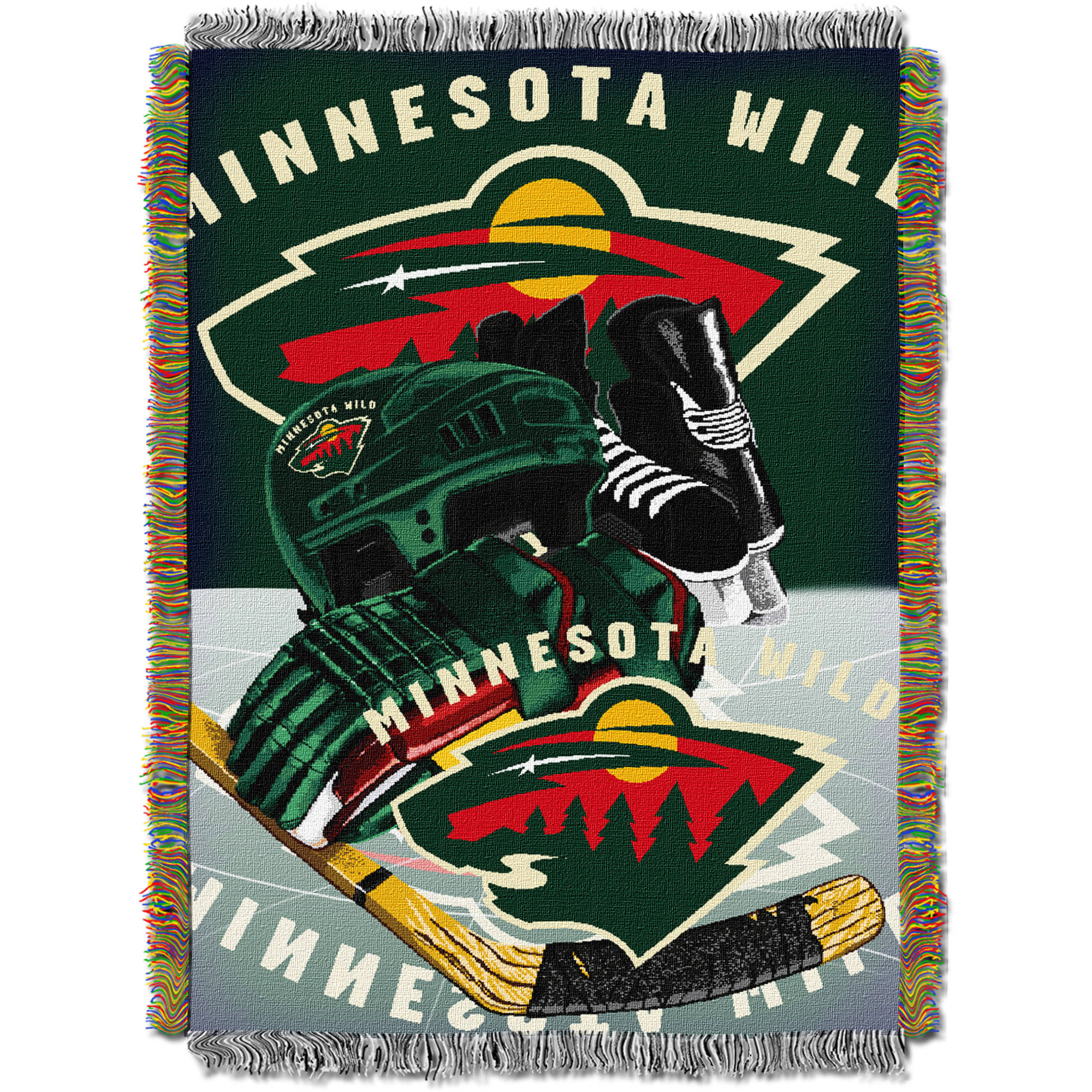 """NHL 48"""" x 60"""" Home Ice Advantage Series Tapestry Throw, Wild"""
