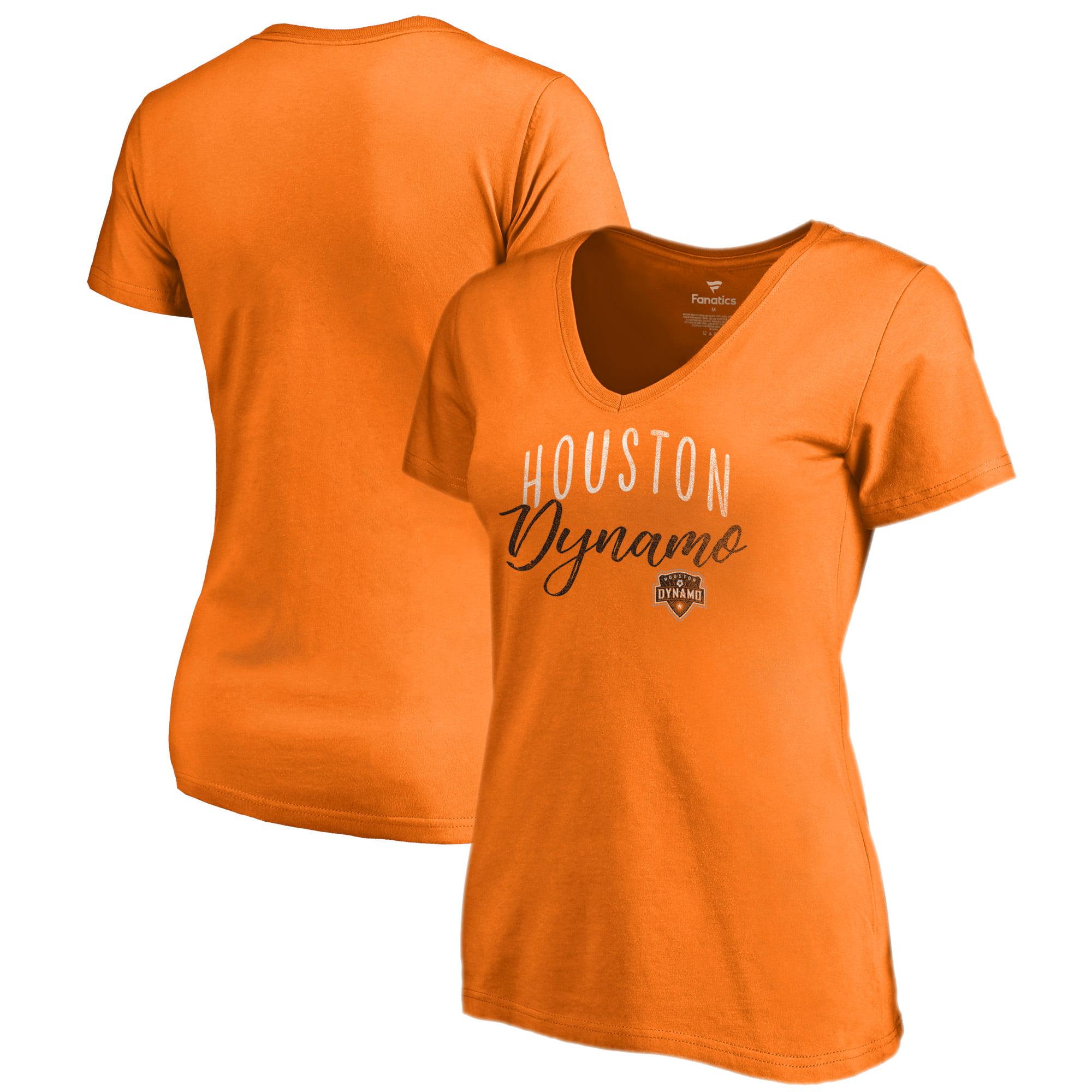 Houston Dynamo Fanatics Branded Women's Graceful V-Neck T-Shirt - Orange