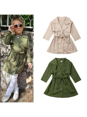 Autumn Toddler Kids Boys Girls Windproof Trench Coat Wind Jacket Outerwear