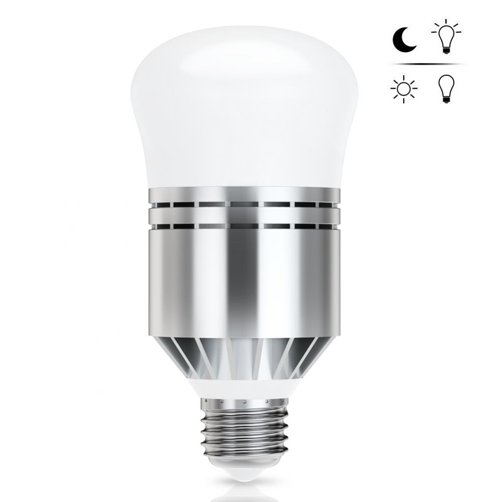 Hurrise dusk to dawn led light bulbs 12w smart sensor bulb e26 27 built in photosensor detection auto on off 6000k cold white indoor outdoor