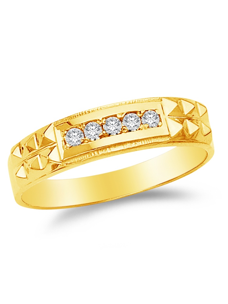 9.5 Size Jewel Tie Solid 14k Yellow Gold Cubic Zirconia CZ Mens Red Ring