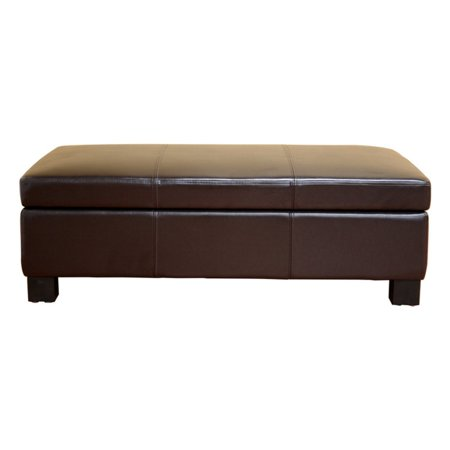 Awesome Gallo Dark Brown Leather Storage Ottoman Caraccident5 Cool Chair Designs And Ideas Caraccident5Info