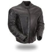 Stylish Mens Leather Scooter Jacket