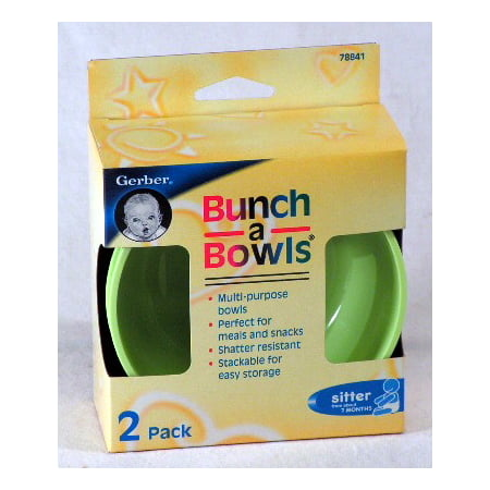 Gerber Bunch a Bowls (2 Pack) Perfect for Meals and (Best Gerber Graduates Bowls)