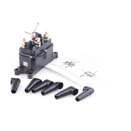 Universal 12V Solenoid Relay Contactor Winch Rocker Switch Thumb For ATV UTV