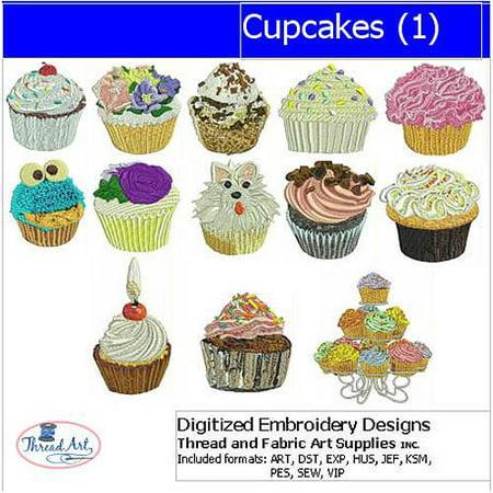 - ThreadArt Machine Embroidery Designs Cupcakes(1) CD