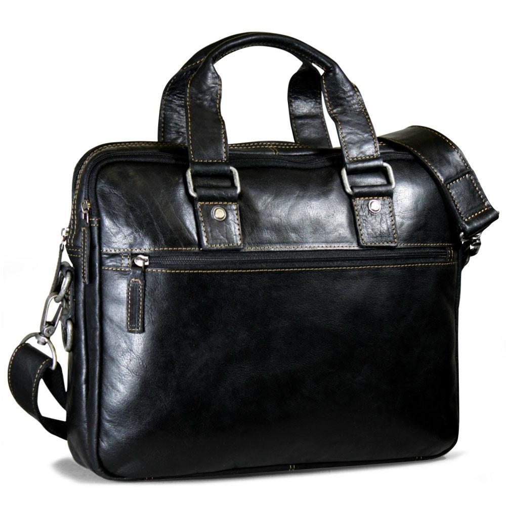 Jack Georges Voyager Slim Double Entry Top Zip Briefcase
