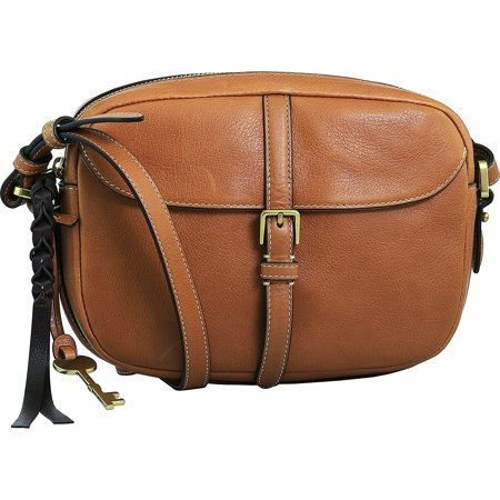 Fossil Women's Kendall Crossbody Bag Leather Cross Body - Saddle (Hobo Handbags Fossil)
