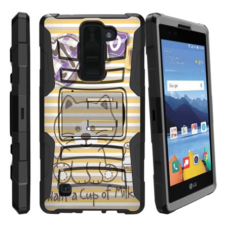 LG K8V and VS500 Miniturtle® Clip Armor Dual Layer Case Rugged Exterior with Built in Kickstand + Holster - Cute Little (Animal Crossing New Leaf Christmas Gift List)