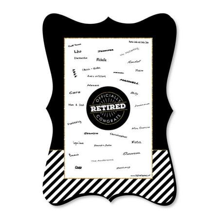 - Happy Retirement - Unique Alternative Guest Book - Retirement Party Signature Mat