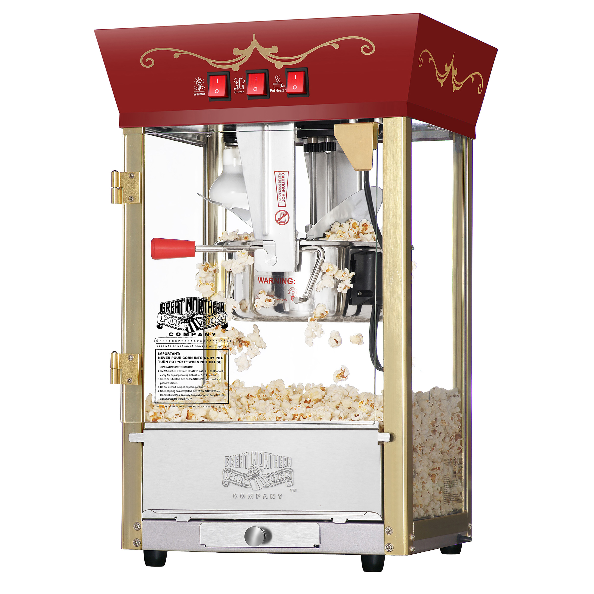 Antique Style Popcorn Popper Machine, 8 Ounce by Great Northern Popcorn