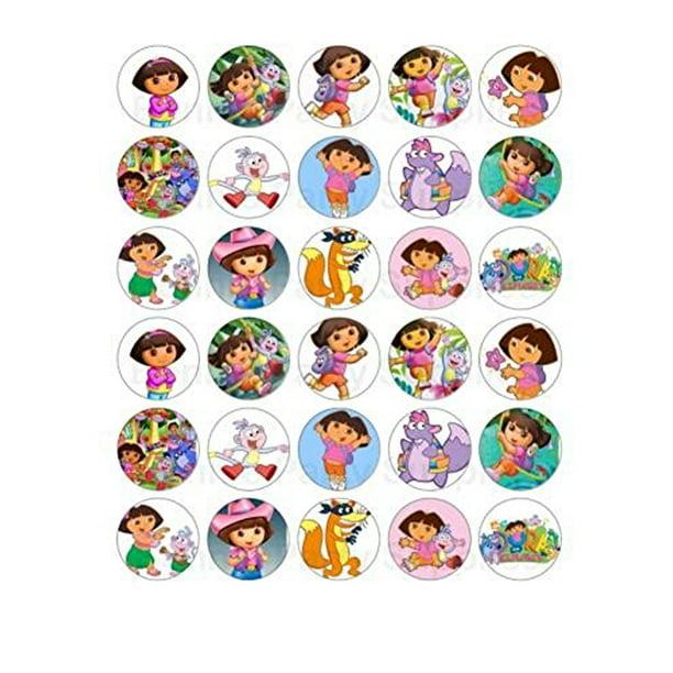 Surprising 30 Dora The Explorer Edible Frosting Cupcake Toppers Walmart Personalised Birthday Cards Xaembasilily Jamesorg