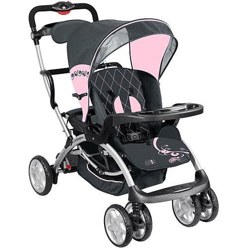 Mia Moda Compagno Tandem Stroller, Pink