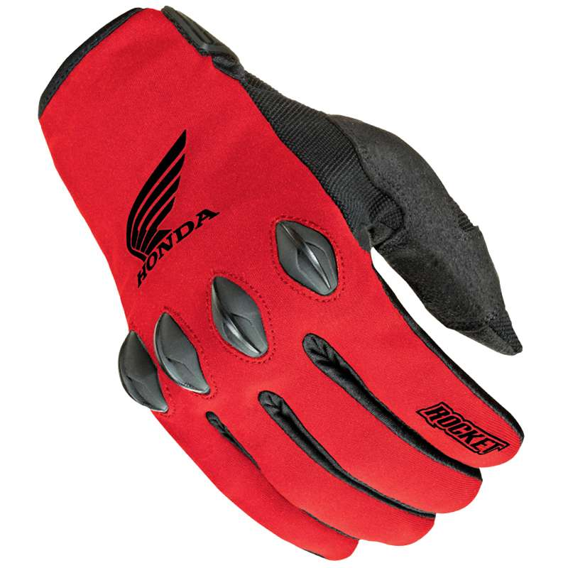 Joe Rocket Honda Nation 2014 Textile Gloves Red/Black