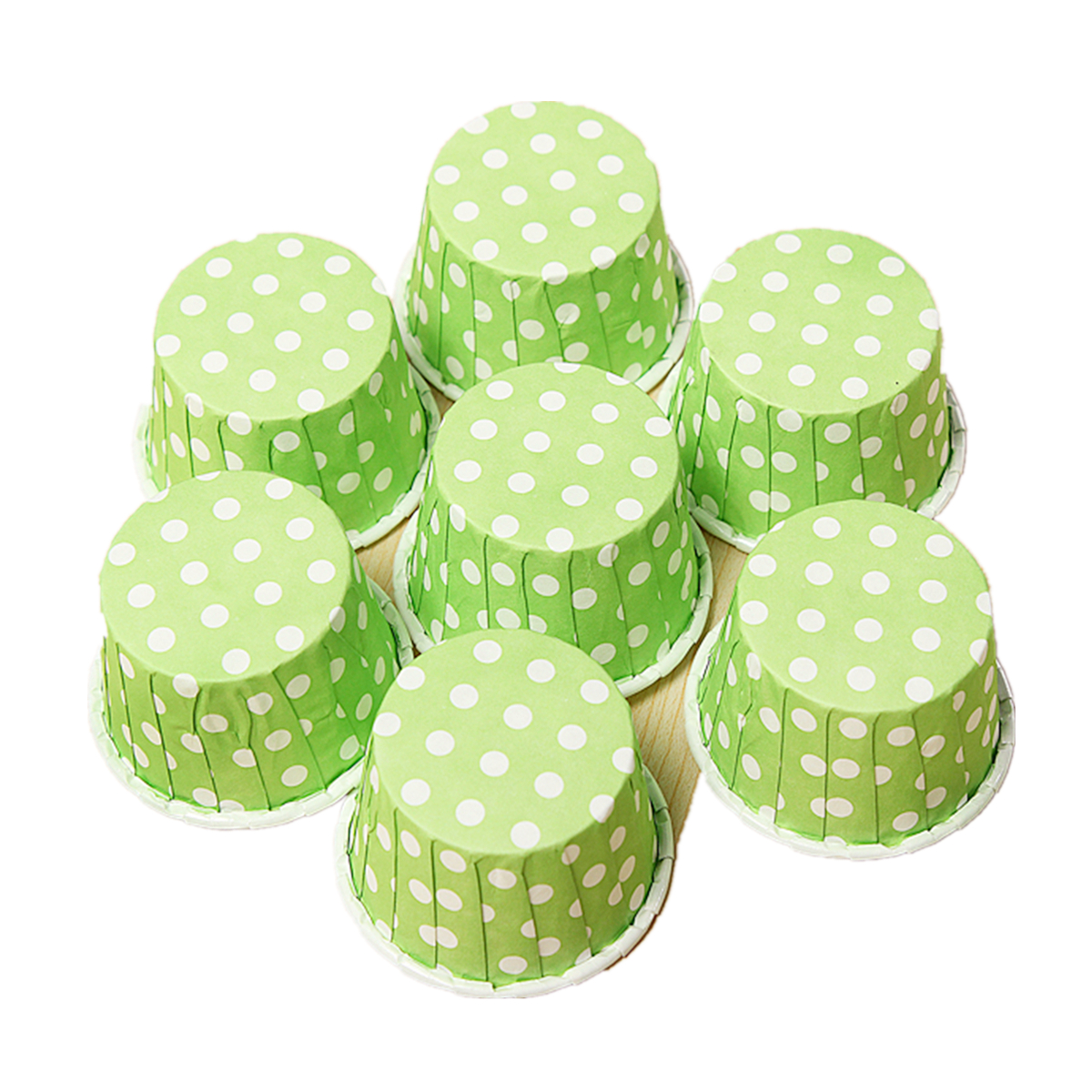 20pcs Cupcake Liner Muffin Candy Nut Snack Greaseproof Dessert Baking Cups 6 Colors,red color