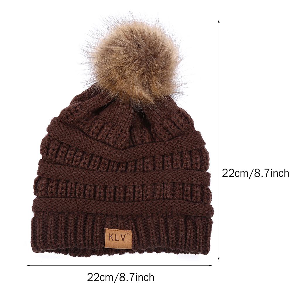94b7be706c0 Walfront - Woolen Hats for Women Winter Knitted Fur Hat Skullies Muts  Wollen Beanies Ladies - Walmart.com