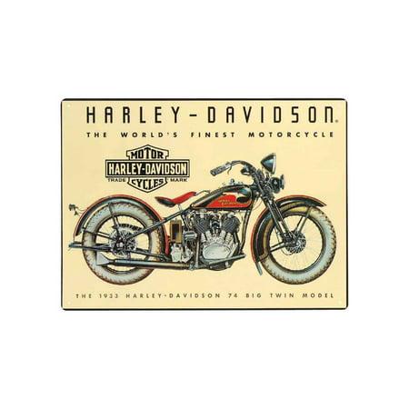 Harley Decor (Harley-Davidson 74 Big Twin Tin Metal Sign 12.5 x 17 Inch  2010011, Harley)