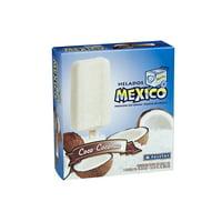 Helados Mexico Coco-Coconut Premium Ice Cream Bars, 18 fl oz, 6 count