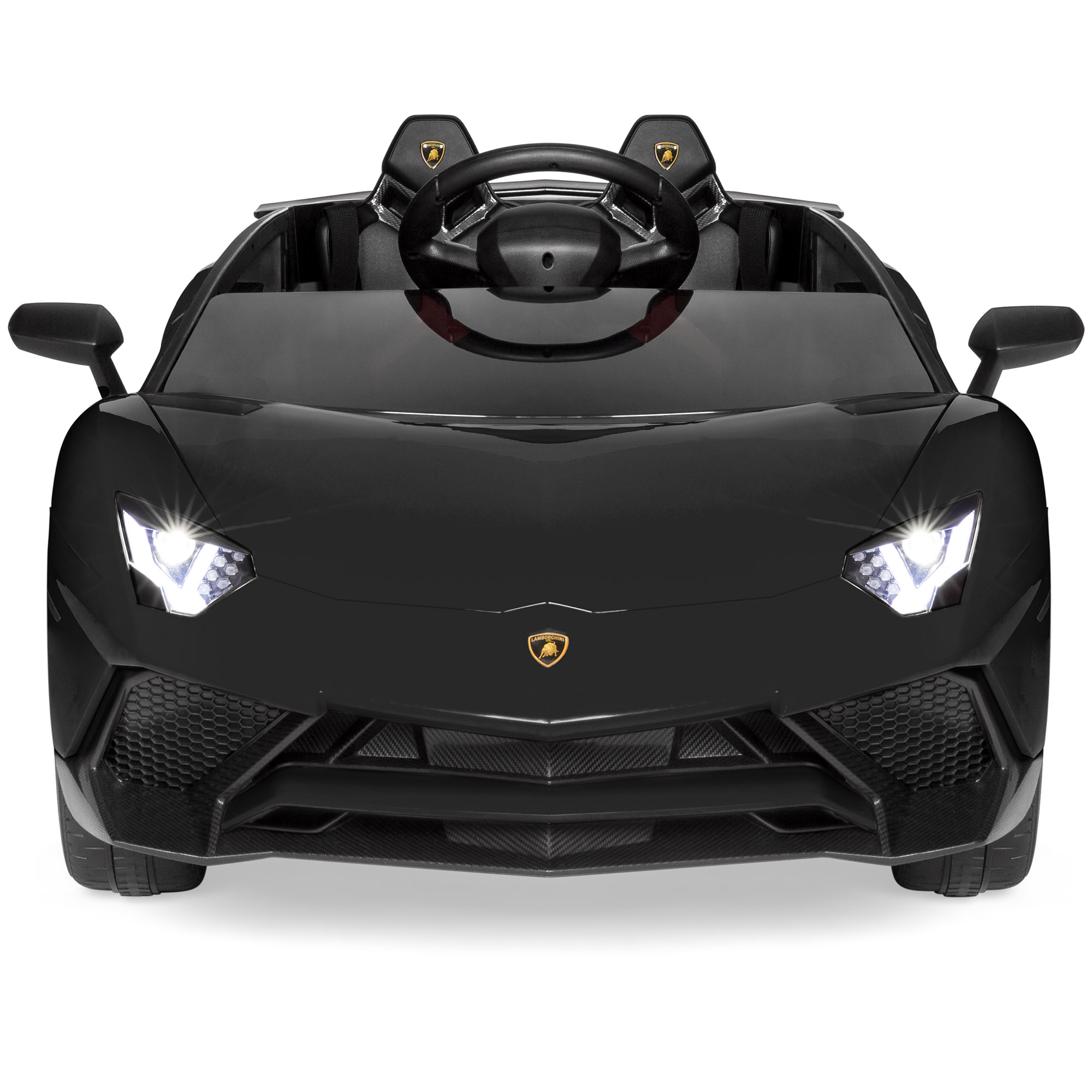 Best Choice Products Kids 12v Ride On Lamborghini Aventador Sv Sports Car Toy W Parent Control Aux Cable Black Walmart Com Walmart Com