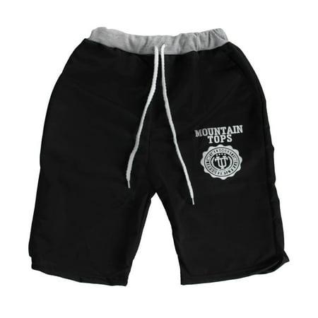 Summer New Men Casual Sports Beach Shorts Five Sub Pants Waistband Classic Black L Black L