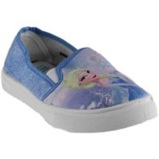 Disney Womens Elsa And Anna Slip On Shoes  Casual Sneakers Shoes -