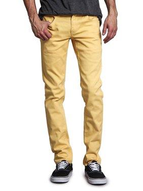 Victorious Men's Skinny Fit Color Stretch Jeans DL937 - Multiple Colors & Sizes