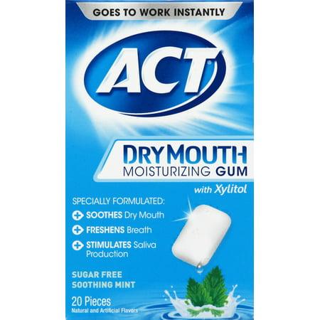 ACT® Dry Mouth Moisturizing Xylitol Gum, 20ct Dry Mouth Moisturizing Gel