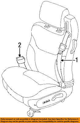 Chrysler Oem 96 00 Sebring Front Seat Belt Buckle End Pw631k5ab