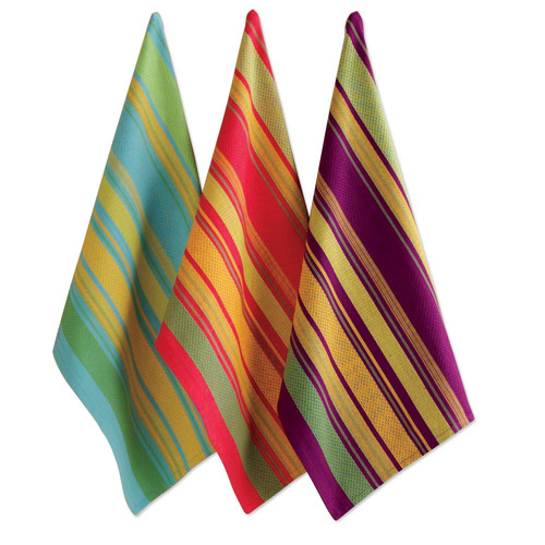 TAG Harvest Market Jardin Stripe Dishtowel (Set of 3)