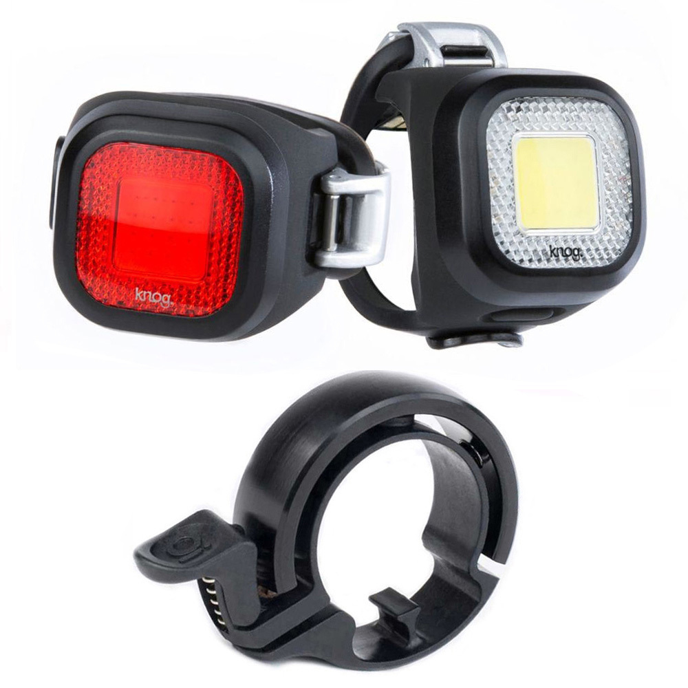 Front and Rear Bicycle Lights Set Knog Blinder Mini Chippy Twinpack Bike Light