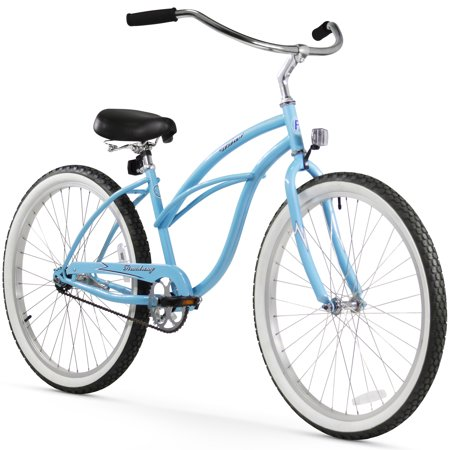 Firmstrong Urban Lady 26u0022 Single Speed Beach Cruiser Bicycle - Baby Blue