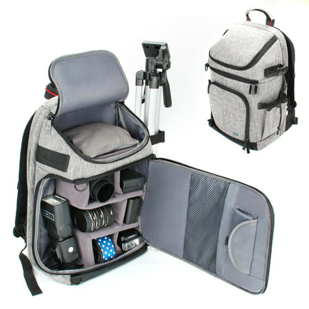 DSLR / SLR Camera Backpack with Padded Custom Dividers , Tripod Holder , Laptop Compartment , Rain Cover and Accessory Storage by for Cameras from Nikon , Canon , Sony , Pentax and More