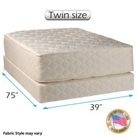 """Dream Sleep Highlight Luxury Firm Mattress Set with Bed Frame Included - Spine Support, Innerspring Coils, Premium Edge guards, Longlasting Comfort (Twin 39"""" W x 75"""" L x 14"""" H)"""