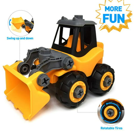 Wistoyz Take Apart Toys Car Truck for Toddlers ,Bulldozer Gift for 3 4 5 Year Old Boys Girls, DIY Toys , 3-4-5 Year Old Kids](Fun Toys For 3 Year Olds)