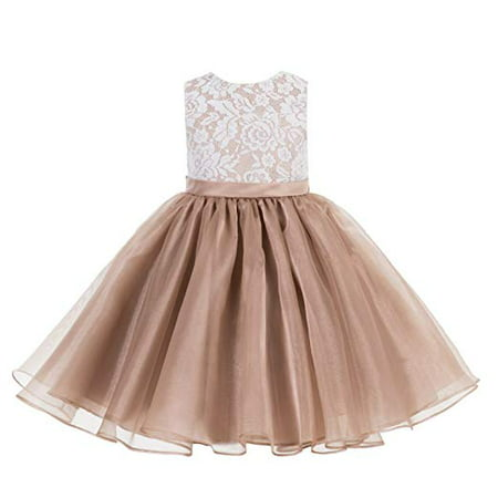 Lace Organza Flower Girl Dress Princess Dresses Special Occasion Dresses Toddler Girl Dresses Birthday Girl Dress Pageant Gown Ballroom Dance Evening Gown Girl Lace Dresses Daily Dresses 186