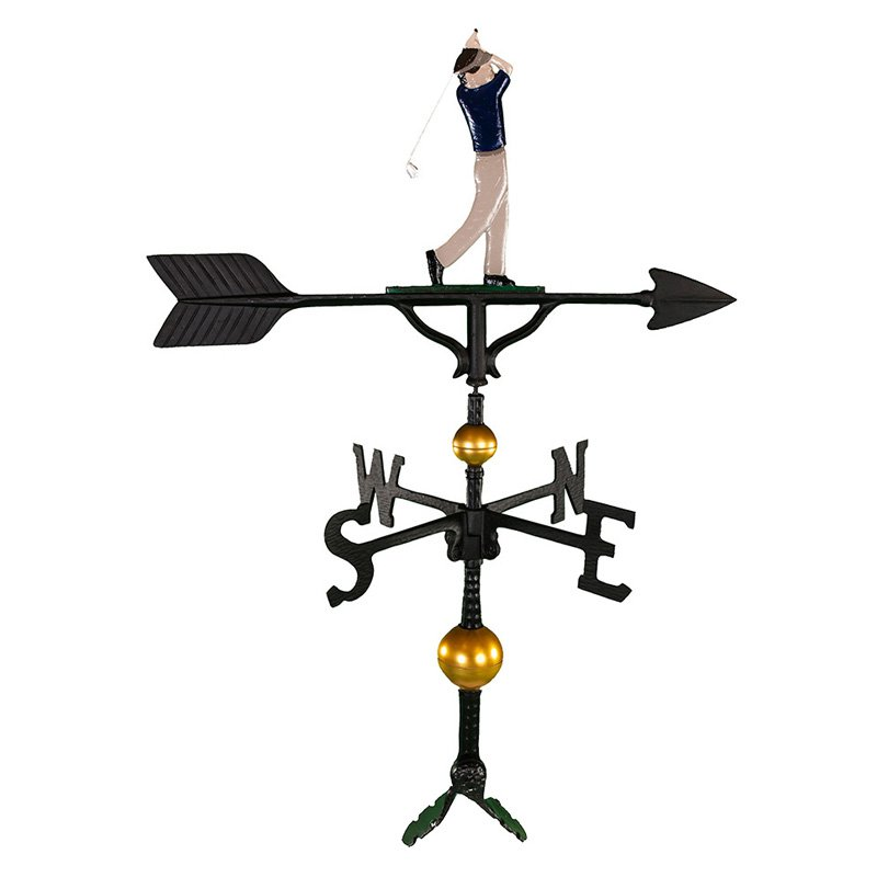 Deluxe Color Weathervane - Golfer - 32 in.