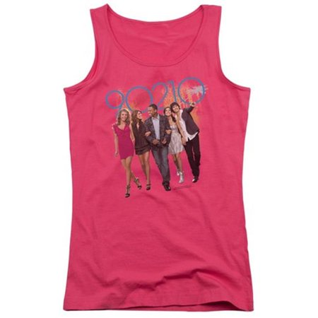 Trevco 90210-Walk Down The Street - Juniors Tank Top - Hot Pink, Extra Large