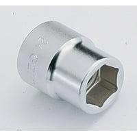 "Genius Tools 827059 1"" Dr. 59mm 6 pt. Metric Hand Socket"