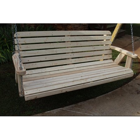 Home Garden Lawn Outdoor Backyard Patio 4ft Amish Pine Heavy Duty 700 Lb Porch Swing Wide Slat Made in USA